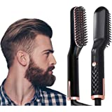 AU PLUG Beard & Hair Straightener Brush for Men & Women, Anti-Scald Quick Hot Comb, Fast Shipment from AU Warehouse, 1…