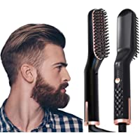 AU PLUG Beard & Hair Straightener Brush for Men or Women, Fast Shipment from AU Warehouse, Quick Hot Brush, 1 Count