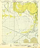 YellowMaps Abbeville SW LA topo map, 1:31680 Scale, 7.5 X 7.5 Minute, Historical, 1932, 20.2 x 16.9 in - Paper