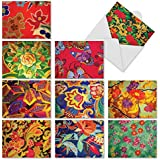 fan products of Vegas Carpets: 10 Assorted Blank All-Occasion Note Cards Featuring Colorful Patterns Reminiscent Of Carpets In Las Vegas Casinos, w/White Envelopes. M3304