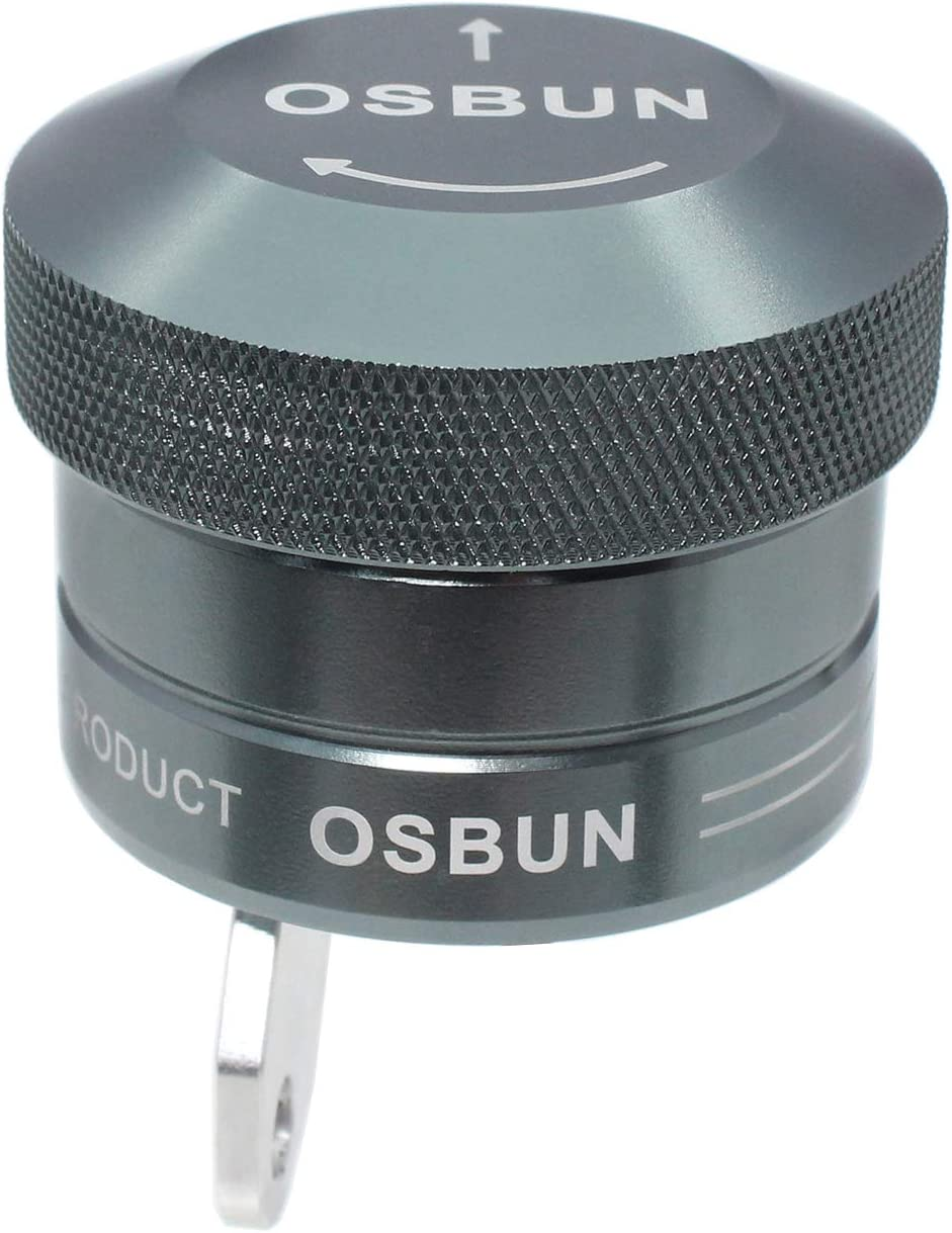 OSBUN Motorcycle T Chain Lubricator Oiler Kit Manual and Automatic Universal Motorbike Oil Cup Set Black