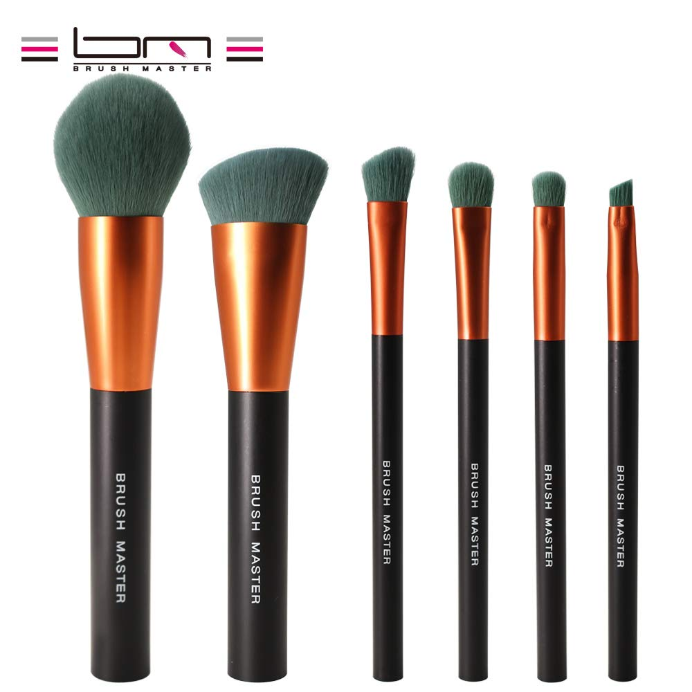 Make Up Brush Kit With Premium MICRO CRYSTAL FIBER Bristles Perfect For Blending Liquid, Cream or Flawless Powder Cosmetics - Buffing, Stippling, Concealer - Premium Quality Synthetic Dense Bristles! Brush Master S17
