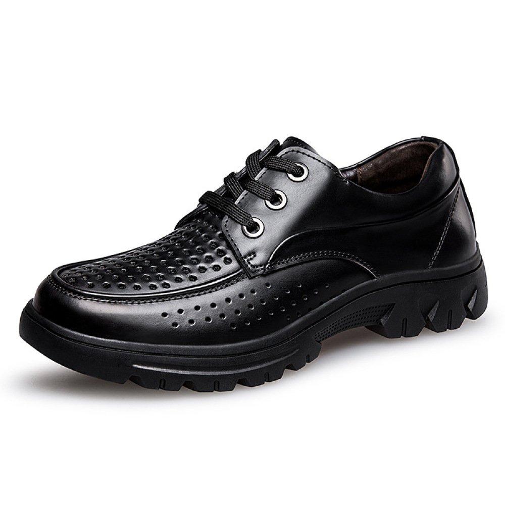 Männer Sommer Papas Schuhe Hohle Lederschuhe Einzelne Schuhe
