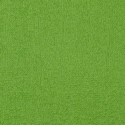 Terry Cloth Cuddle Dark Lime Fabric