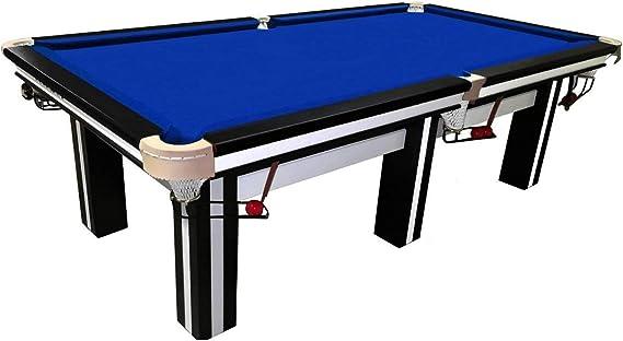 Buckshot - Mesa de billar (270 x 147 cm, tablero de pizarra de 36 mm, 520 kg), color blanco y negro: Amazon.es: Deportes y aire libre