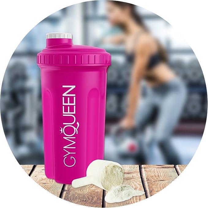 GymQueen Proteína de Whey - Proteína de suero de leche concentrada e aislada de GymQueen - Producto Alemán de Calidad (Frambuesa con nata y galletas): ...