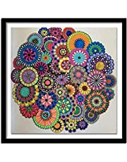 Stamped Cross Stitch Kits Beginners for adult Embroidery,Abstract mandala flower,16x20 inch DIY Cross Stitching Supplies Handicraft Crochet Christmas gift for Home Decor (11CT Pre-Printed)