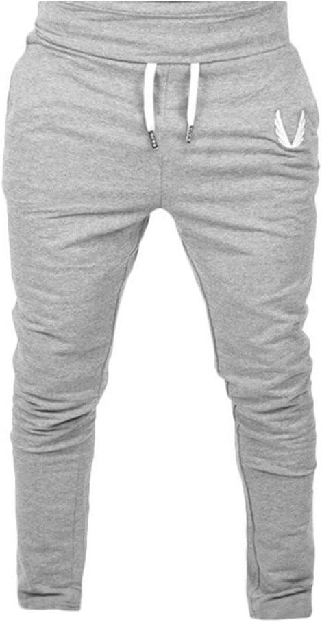 Mens Open Hem Fleece Joggers Bottom Sports Gym Fitness Trouser Yoga Pants S-8XL