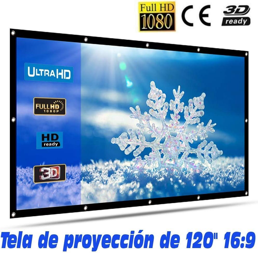 Tela de proyección Lux-Screen Formato 16:9 Superficie de 3 Capas ...