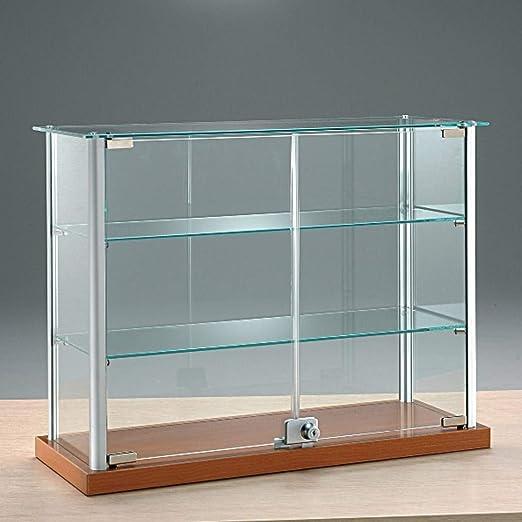 MHN - Vitrina de Cristal para Mesa (Aluminio, 65 x 25 cm), Color ...