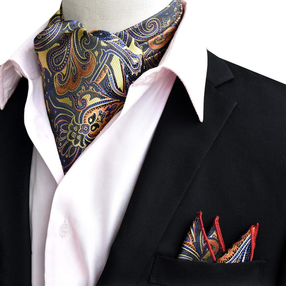 5 Colors YANJUN-Neckties Scarf Men Business Shirt Comfortable Multifunction Polyester Embroidery Office Wedding Color : White, Size : 16x118cm