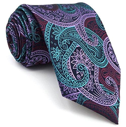 Shlax&Wing Multicolored Paisley Mens Ties Neckties Silk Wedding Fashion Extra Long