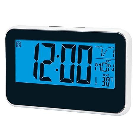 joyliveCY Reloj Digital LED, Pantalla LCD Grande, Reloj Despertador Creativo Reloj Pantalla Temperatura del