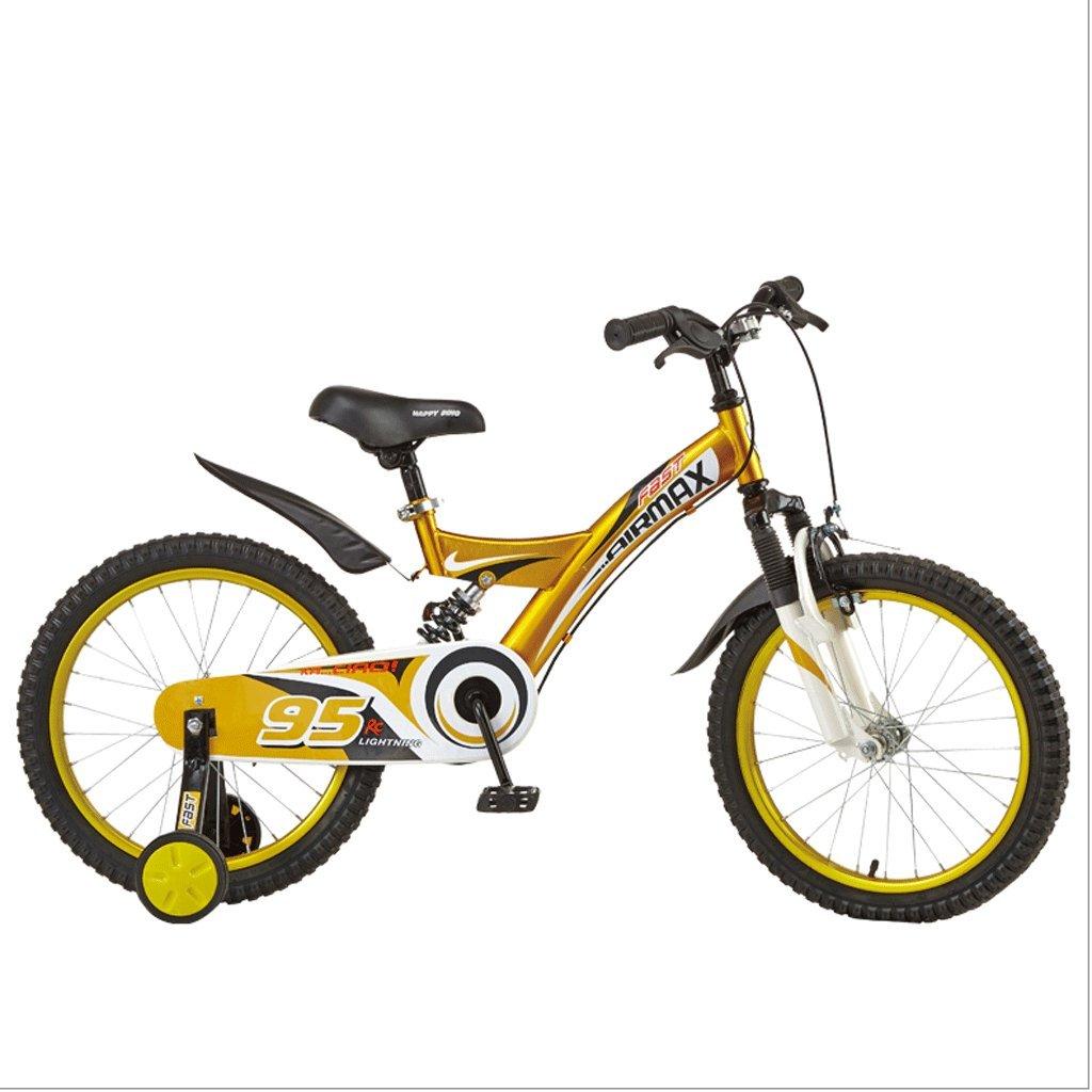 DGF 子供の自転車2-10歳の男の子の女の子の自転車のベイビーキャリア121416インチ (色 : イエロー いえろ゜, サイズ さいず : 16 inches) B07F2DJM11 16 inches|イエロー いえろ゜ イエロー いえろ゜ 16 inches