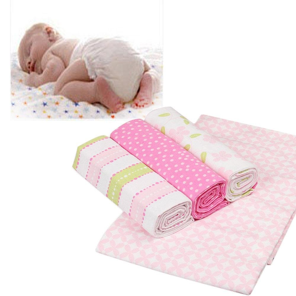 Gaomadee 4pcs/Pack Soft Prop Bed Supplies Muslin Wrap Infant Swaddling Baby Blankets Sleeping Sheet