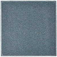 "Hudson Exchange 4300 Waterhog Fashion Floor Mat, 35"" x 35"", 3/8"" Thick, Bluestone"