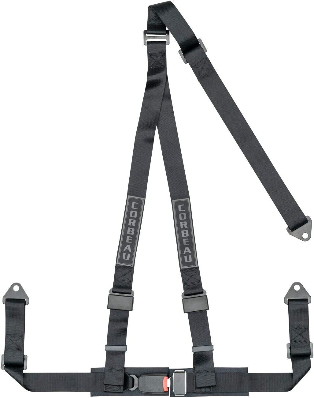 Corbeau 2 Negro (3 puntos Cinturón de arnés de bolt-in retráctil ...