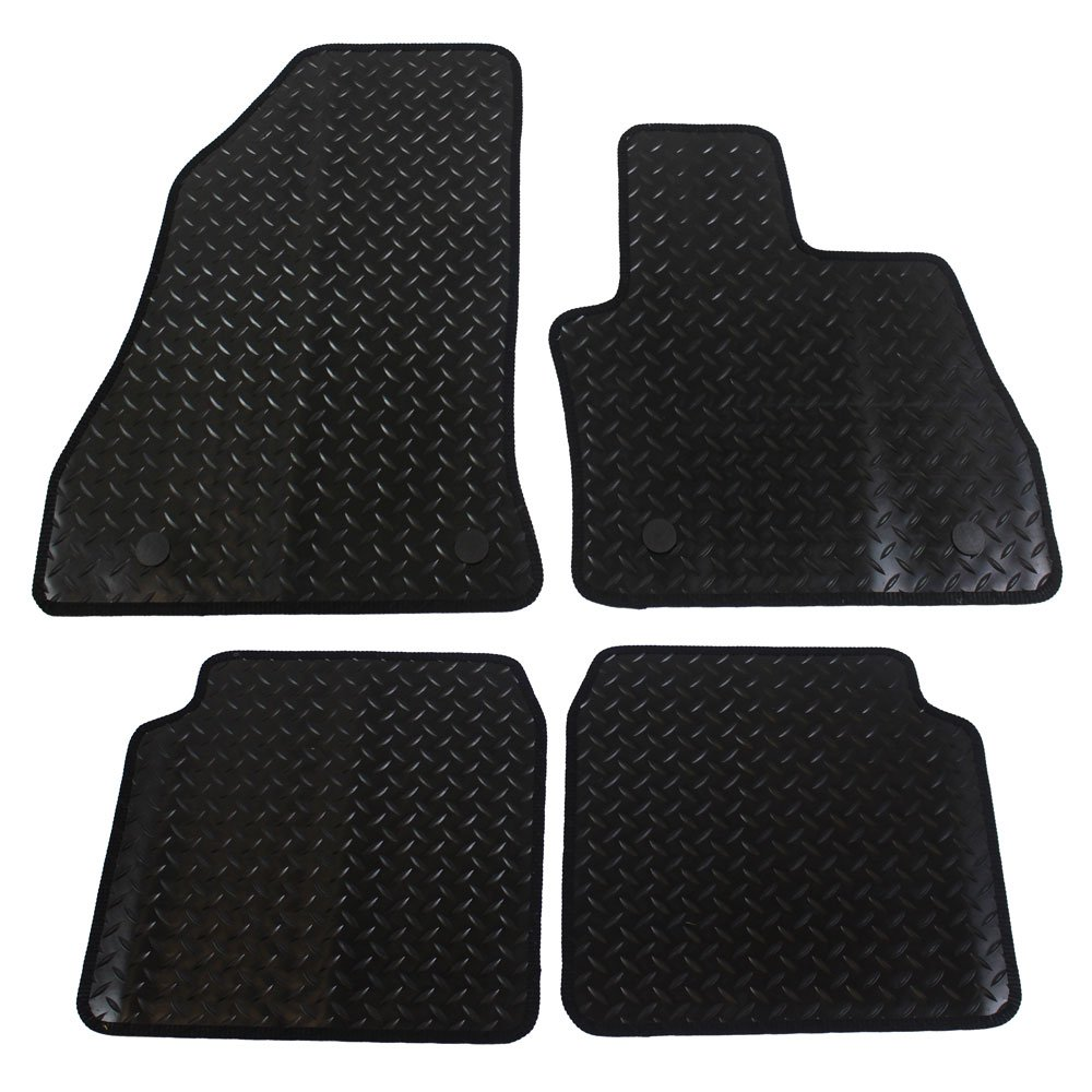 Fully Tailored 4-Piece Car Mat Set with 4 Clips JVL  500L 2013 Black