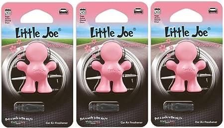Little Joe 3er Set Lufterfrischerbis Zi 45 Tage Frische Luft Im Auto Lkw Büro Wohnung Kleiderschrank Etc Rosa Strawberry Auto