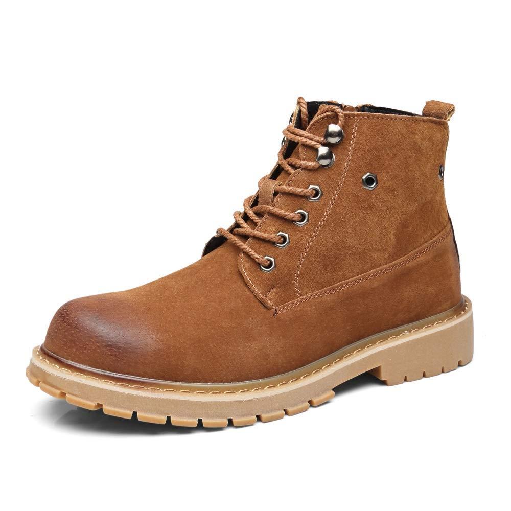 Bspringaaaa MON5F Home Safety Safety Safety Toe Boot för män Premium läder Soft Toe ljus Weight Industrial Construction Moc Work s Boot s Isolerade (färg  grå, Storlek  42)  till lägsta pris