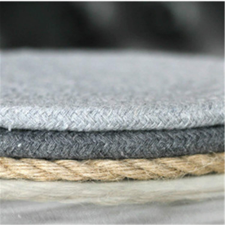 e143fafc134 Amazon.com  Placemat Pad Coasters Kitchen Table Mats Cotton Linen Knitting  Bowl Mats Padding Mat Insulation Pad Round Placemats Hand-made  Kitchen    Dining