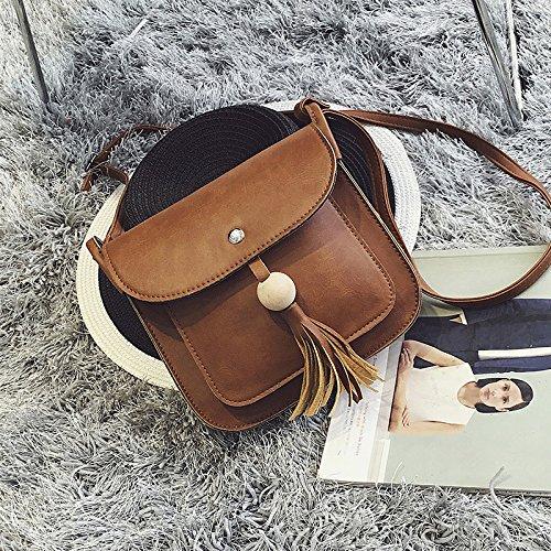 TSLX-Messenger Schultertasche Handtasche Neue Light brown dx4cxjck