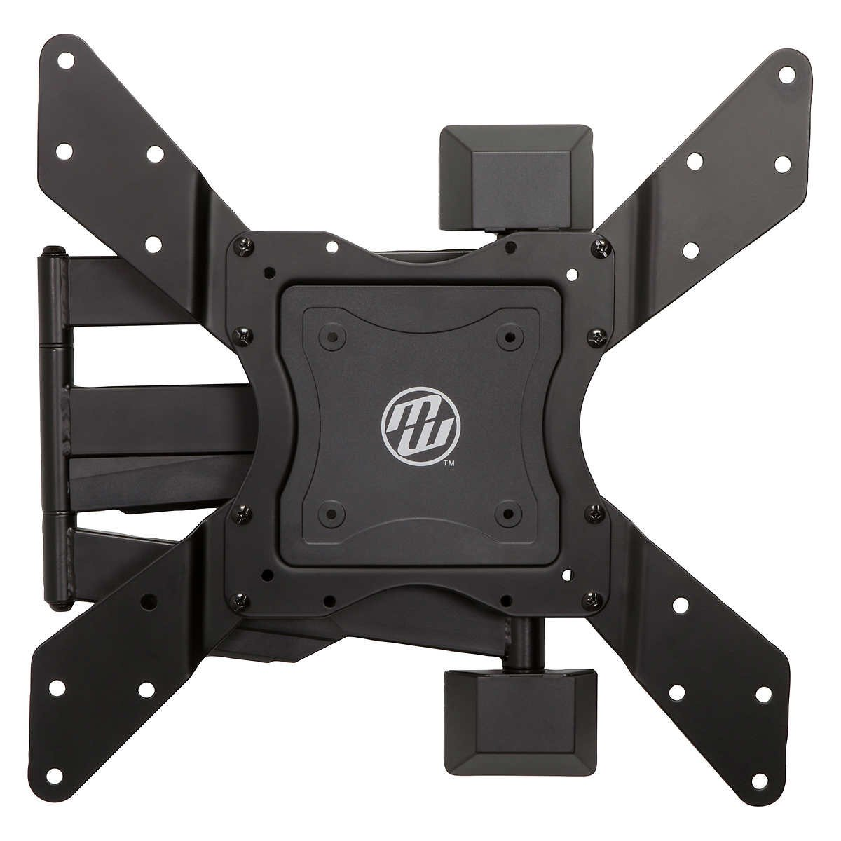 TOUGH RELIABLE MW Mounts 24'' - 60'' Full-Motion TV Mount Can Handle Units Weighing up to 70 lbs Extends 2.3'' to 21.2'' From Wall Tilt Adjustment -10 ̊ / +3 ̊. - Perfect For Watching TV