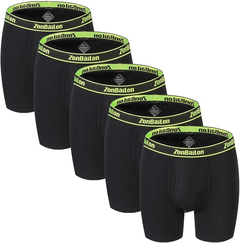 Mens Boxer Briefs Bamboo Big and Tall Underwear for Men Pack Long Leg Mens Underwear Boxer Briefs M L XL XXL XXXL