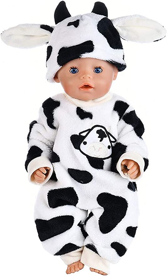 ebuddy 2-sets Doll Clothes Include Jumpsuit Top and Hat for 43 cm New Born Baby Dolls// 15 inch Bitty Baby Dolls