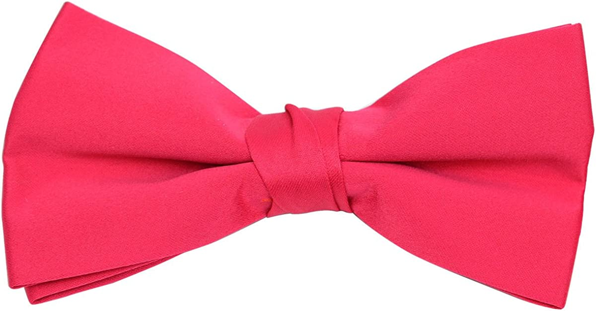 Boys Poly Satin Banded Clip On Bow Ties