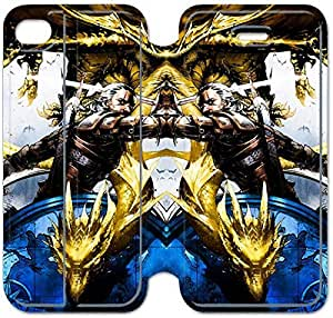 4 4s Cover,[Pu Leather Cover] The Witcher 3 Theme New iPhone 4 4s Case Cover KA9117