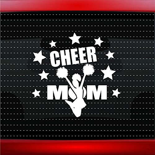 Noizy Graphics Cheer Mom Cheerleading Car Sticker Truck Window Vinyl Decal Yellow