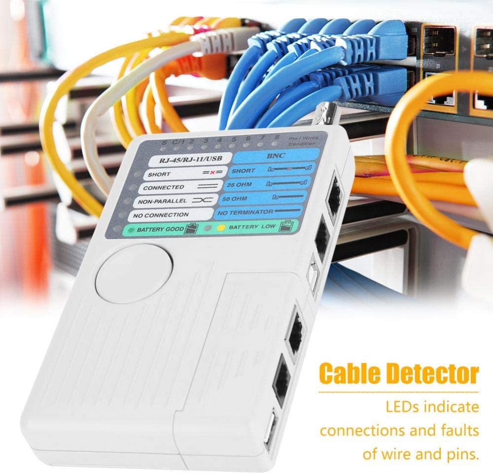 Network Cable Tester LAN Cable Test 4-in-1 Remote LAN Network Measurement Device USB BNC for UTP STP RJ11 RJ45 Cable Tester