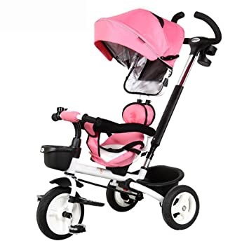 Carrito de bebé Triciclo Plegable para niños/Bicicleta de 1 a 6 años/Carrito