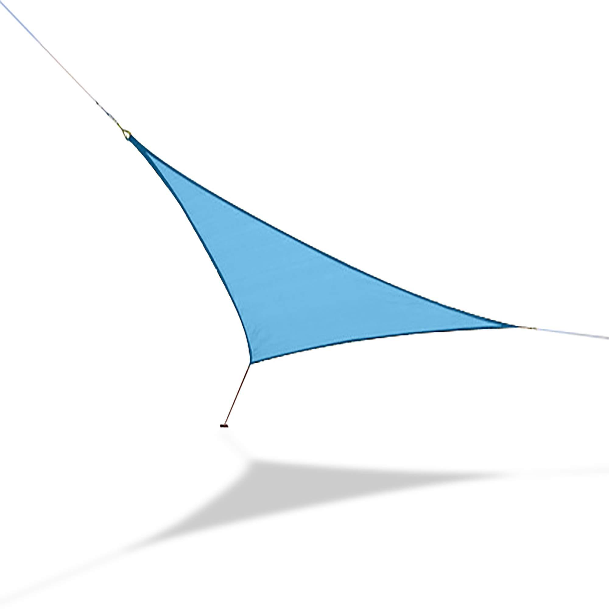 Hammaka Woven Backyard Triangle Sail Sun Shade (Medium, Turquoise Blue)