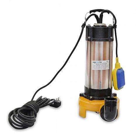 Bomba de Aguas Sucias 2200W Submergible para Agua Sucia 500L/m Con Trituradora