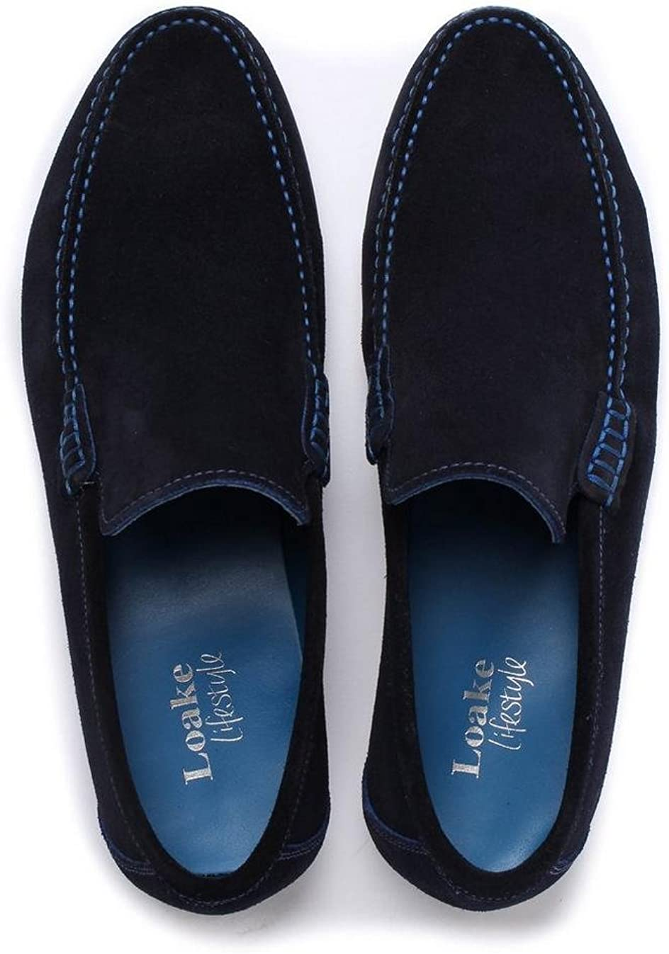 Loake Mens Suede Nicholson Loafers UK 9.5 Blue