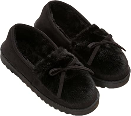 COSIES Womens Navy//Raspberry Moccasins Winter Slippers SIZES 3,4,5,6,7,8 NEW