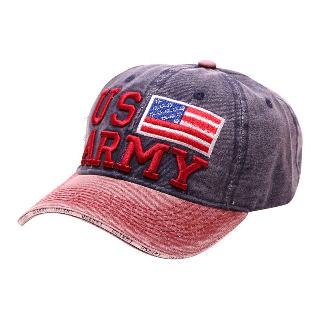 Men Women Sport Sun Visor,Unisex US Army wiht American Flag Hat, USA MAGA Cap Adjustable Baseball Hats Navy