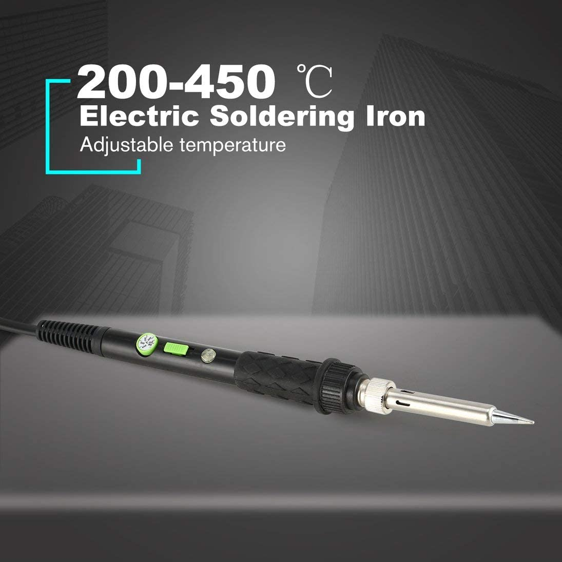 Schwarz Temperatureinstellung Elektrischer L/ötkolben Kit Schalter Power Welding Repair Tools L/ötstation Heat Soldering Pencil Tool Kit