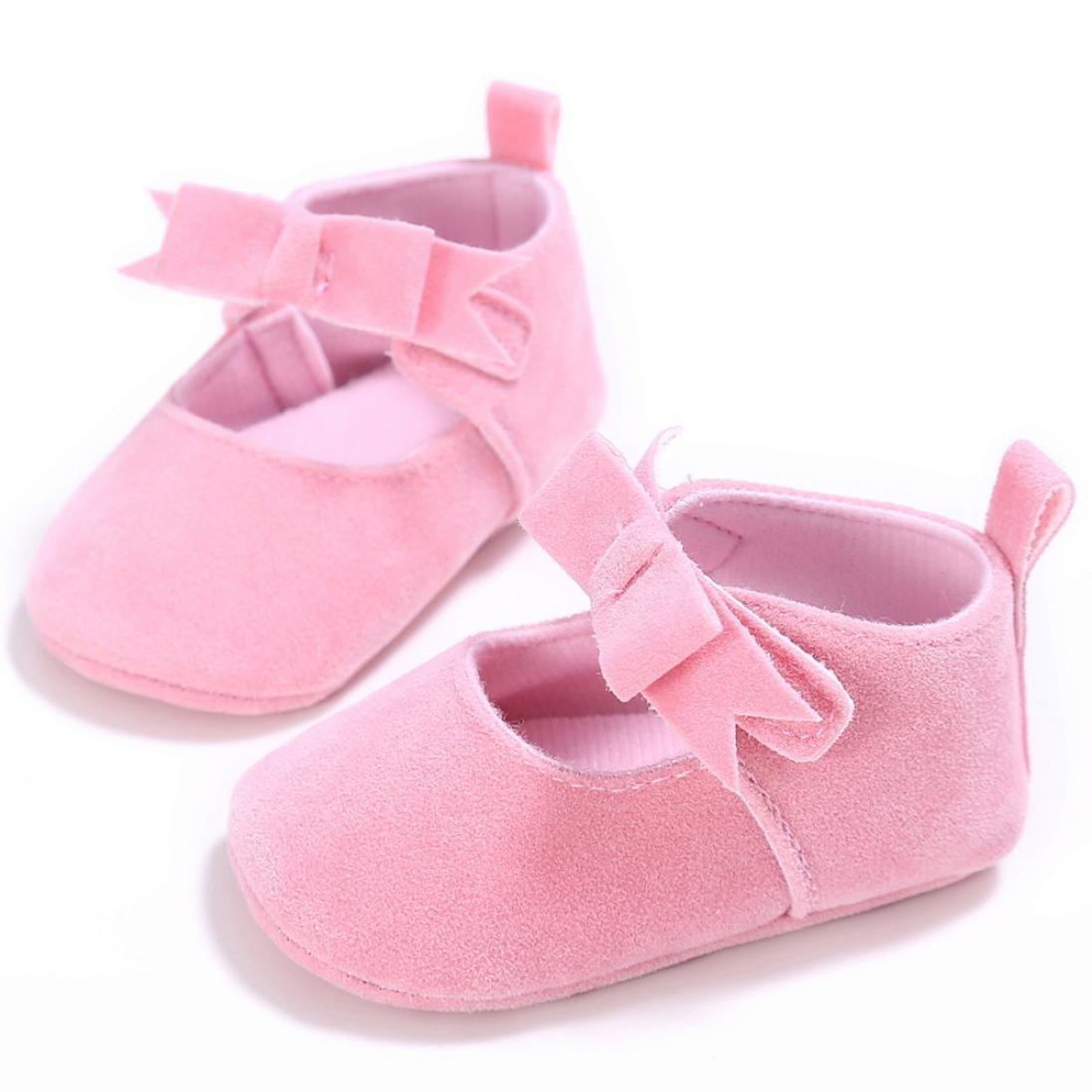 Kavitoz Toddler Girl Crib Shoes Newborn Flower Soft Sole Anti-Slip Baby Sneakers