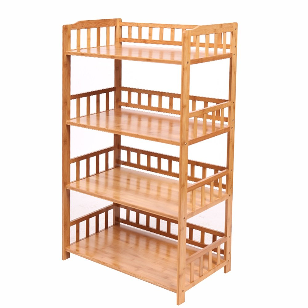 Standing Shelf Units HWF Kitchen Organizer Storage Racks Bamboo Free Standing Large Multi-function Microwave Oven Shelf Stand (Color : 3 tiers, Size : 60CM) HWF Shop