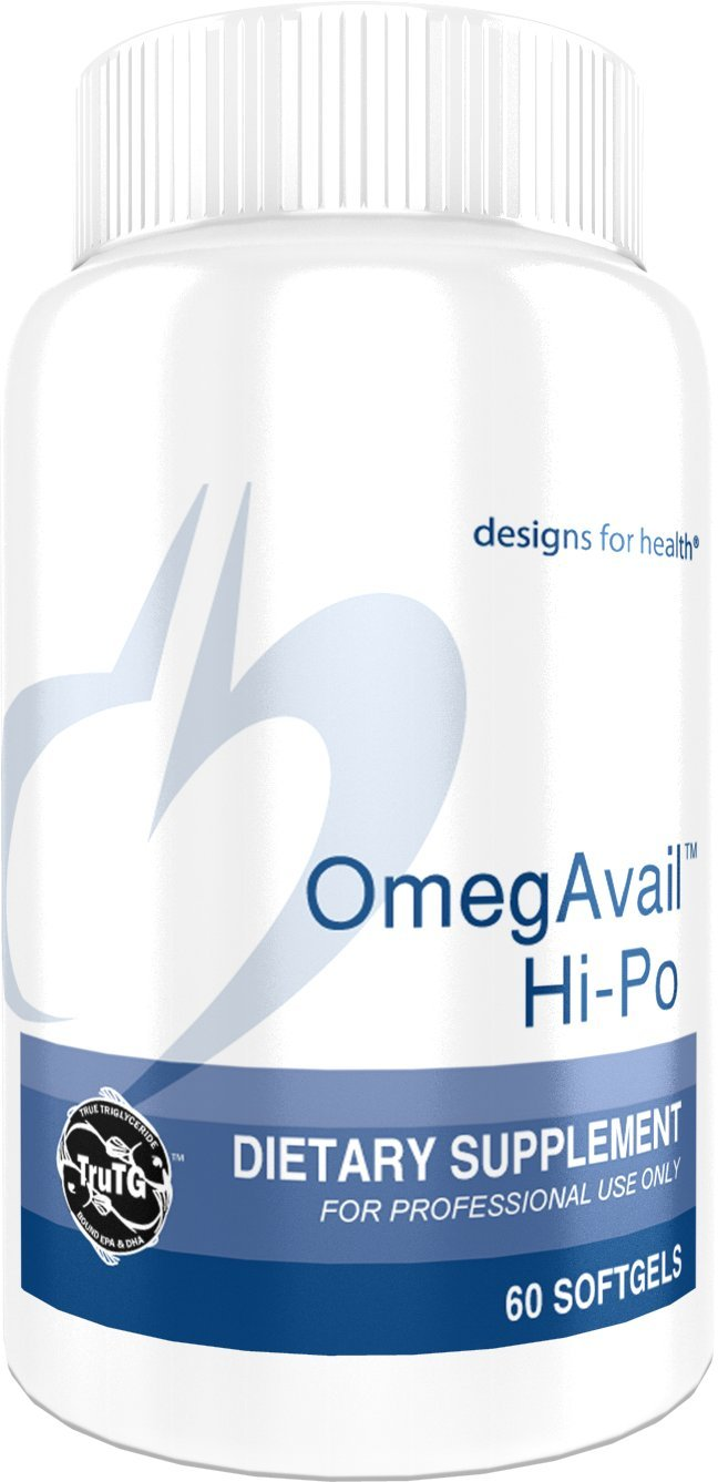 Designs for Health - OmegAvail Hi-Po - 1500mg Triglyceride (TG) Fish Oil, 60 Softgels