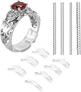 2 Styles Invisible Ring Size Adjuster for Loose Rings - Ring Guard, Ring Sizer, 20 Pieces, 13 Sizes Fit for Man and Woman Ring 20PCS