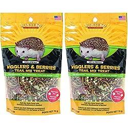 Sunseed Company-Vita Prima Hedgehog Treat-Wigglers & Berries 2.5 Ounce (2 Packs of 2.5 oz)