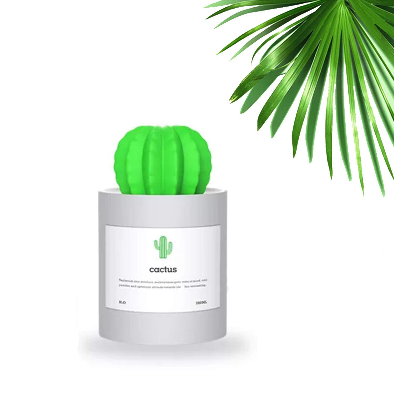 Liferry Mini Cactus Humidifiers,Cute USB Portable Cool Mist Air Diffuser Auto Shutdown Office Home Desk Car Travel(Grey)