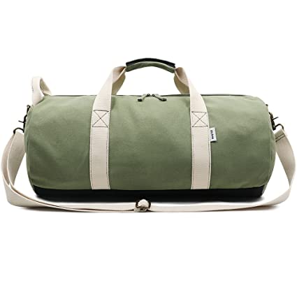 b3afc73cb9ea Amazon.com  Ybriefbag Unisex Men s Canvas Travel Bag Large Capacity ...