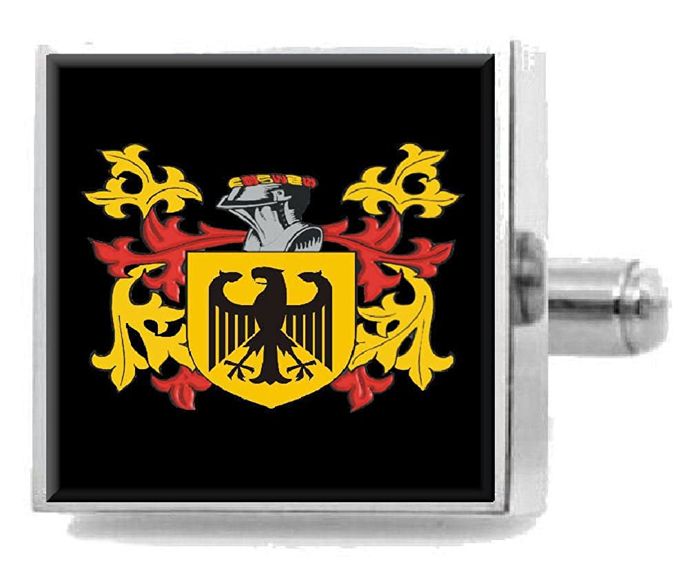 Select Gifts Moncrieff Scotland Family Crest Surname Coat Of Arms Cufflinks Personalised Case