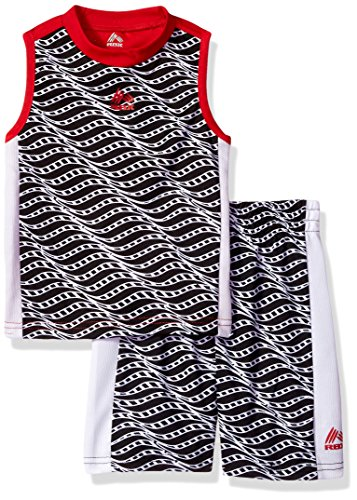 RBX Toddler Boys' Tank Top and Short Set, Collegiate red6, 3T by RBX