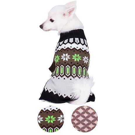 Amazon.com : Blueberry Pet 2 Patterns Nordic Fair Isle Unisex Dog ...